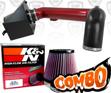 K&N® Air Filter + Spyder® Cold Air Intake System (Red) - 09-10 Ford F150 F-150 5.4L V8
