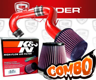 K&N® Air Filter + Spyder® Cold Air Intake System (Red) - 11-16 Scion tC 2.5L 4cyl
