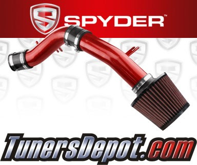 K&N® Air Filter + Spyder® Cold Air Intake System (Red) - 12-13 Hyundai Veloster 1.6L 4cyl Non-Turbo
