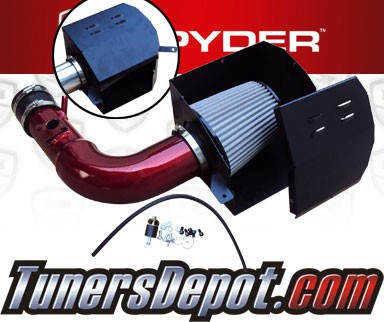 K&N® Air Filter + Spyder® Cold Air Intake System (Red) - 13-16 Scion FRS FR-S 2.0L 4cyl