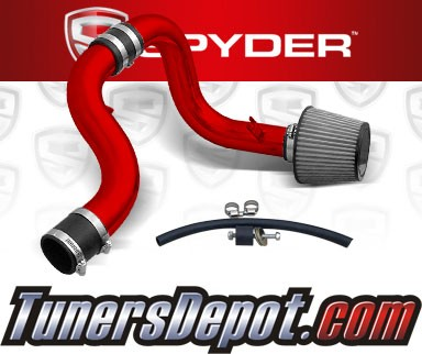 K&N® Air Filter + Spyder® Cold Air Intake System (Red) - 90-93 Acura Integra 1.7L/1.8L 4cyl