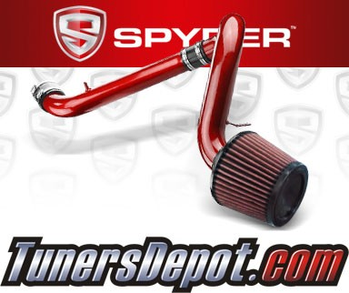 K&N® Air Filter + Spyder® Cold Air Intake System (Red) - 91-99 Saturn S-Series DOHC 1.9L 4cyl