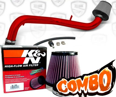 K&N® Air Filter + Spyder® Cold Air Intake System (Red) - 94-01 Acura Integra Non-Vtec 1.8L 4cyl