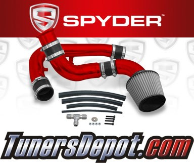 K&N® Air Filter + Spyder® Cold Air Intake System (Red) - 97-98 Nissan 240SX 2.4L 4cyl