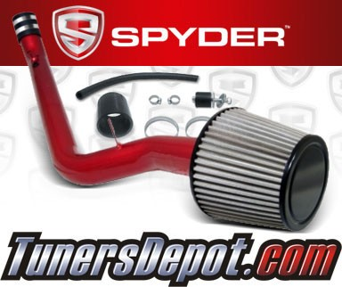 K&N® Air Filter + Spyder® Cold Air Intake System (Red) - 99-00 Honda Civic EX 1.6L 4cyl