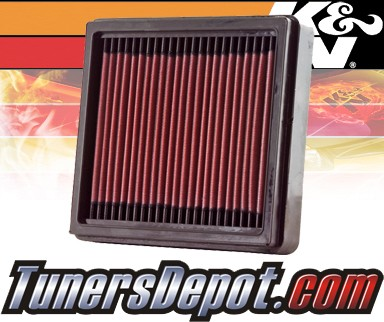 K&N® Drop in Air Filter Replacement - 00-00 Mitsubishi Lancer 1.8L 4cyl
