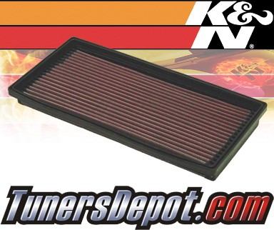 K&N® Drop in Air Filter Replacement - 00-00 Saab 9-3 2.3L 4cyl