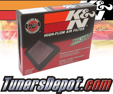 K&N® Drop in Air Filter Replacement - 00-02 Ford Fiesta 1.8L 4cyl Diesel