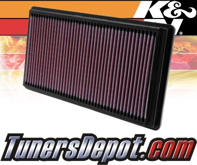 K&N® Drop in Air Filter Replacement - 00-02 Jaguar S-Type 3.0L V6