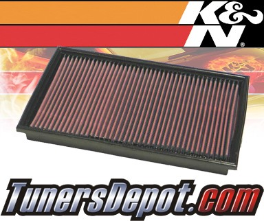 K&N® Drop in Air Filter Replacement - 00-02 Mercedes E430 W210 4.3L V8