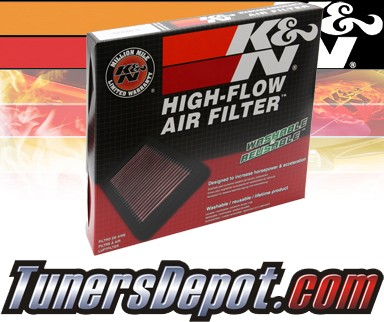 K&N® Drop in Air Filter Replacement - 00-04 Audi A6 2.7L V6