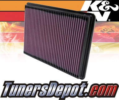 K&N® Drop in Air Filter Replacement - 00-05 Pontiac Bonneville 3.8L V6