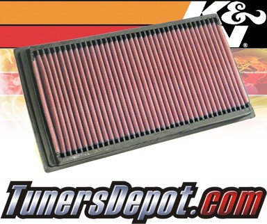 K&N® Drop in Air Filter Replacement - 00-06 BMW X5 E53 3.0L L6