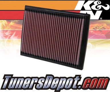 K&N® Drop in Air Filter Replacement - 00-07 Hyundai Elantra 1.6L 4cyl