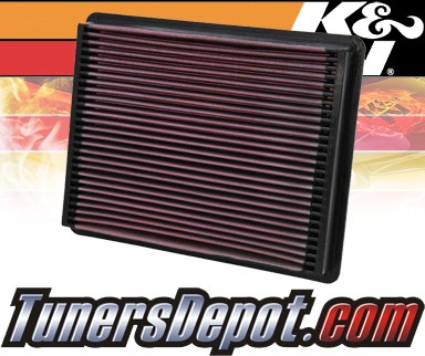 K&N® Drop in Air Filter Replacement - 01-01 GMC Sierra C3 6.0L V8