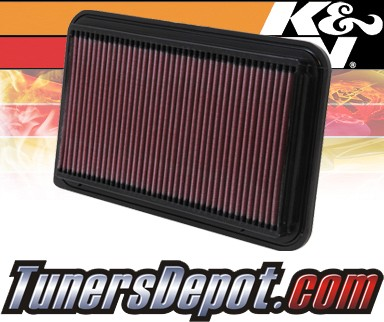 K&N® Drop in Air Filter Replacement - 01-01 Toyota Camry 2.4L 4cyl