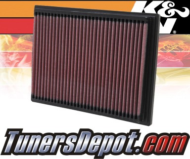 K&N® Drop in Air Filter Replacement - 01-03 BMW 530i E39 3.0L L6