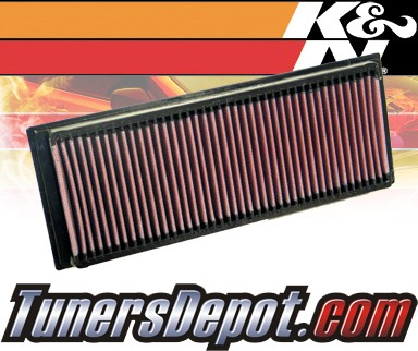 K&N® Drop in Air Filter Replacement - 01-04 Mercedes C32 AMG W203 3.2L V6