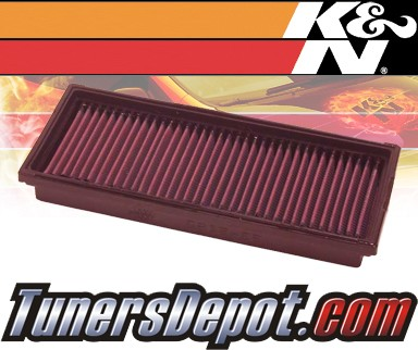 K&N® Drop in Air Filter Replacement - 01-04 Mercedes SLK320 R170 3.2L V6