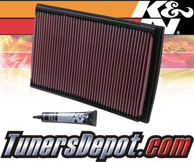 K&N® Drop in Air Filter Replacement - 01-04 Volvo V70 2.3L L5