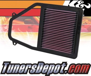 K&N® Drop in Air Filter Replacement - 01-05 Honda Civic EX 1.7L 4cyl