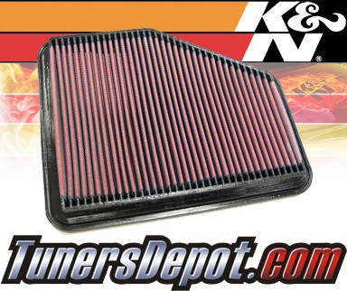 K&N® Drop in Air Filter Replacement - 01-05 Lexus GS430 4.3L V8