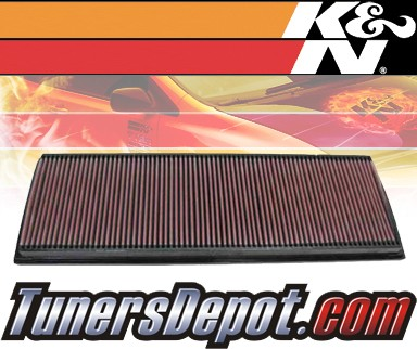 K&N® Drop in Air Filter Replacement - 01-05 Porsche 911 Turbo 3.6L H6