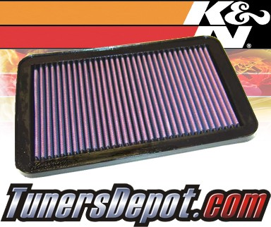 K&N® Drop in Air Filter Replacement - 01-06 Hyundai Santa Fe 2.4L 4cyl