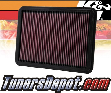 K&N® Drop in Air Filter Replacement - 01-07 Toyota Sequoia 4.7L V8