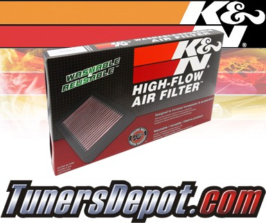 K&N® Drop in Air Filter Replacement - 02-03 Dodge Ram 1500 5.9L V8