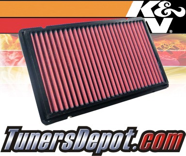 K&N® Drop in Air Filter Replacement - 02-04 Ferrari 456 M GT 5.5L V12