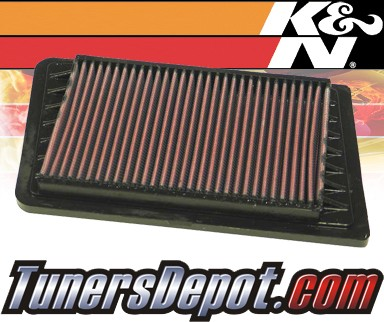 K&N® Drop in Air Filter Replacement - 02-04 Jeep Cherokee 2.4L 4cyl
