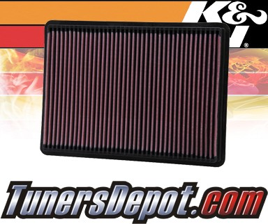 K&N® Drop in Air Filter Replacement - 02-04 Jeep Cherokee 2.8L 4cyl Diesel