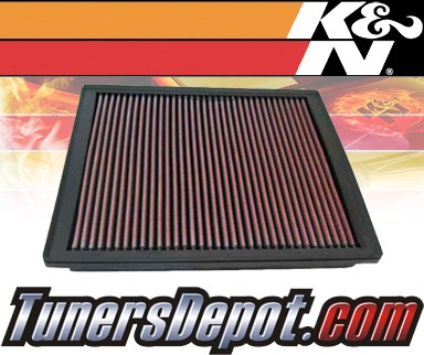 K&N® Drop in Air Filter Replacement - 02-04 Jeep Grand Cherokee 4.7L V8