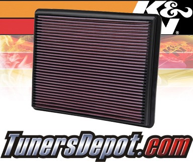 K&N® Drop in Air Filter Replacement - 02-05 Cadillac Escalade 5.3L V8