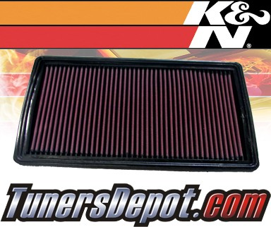K&N® Drop in Air Filter Replacement - 02-05 Pontiac Grand Am 2.2L 4cyl