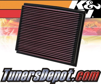 K&N® Drop in Air Filter Replacement - 02-06 Audi A4 Turbo 1.8L 4cyl