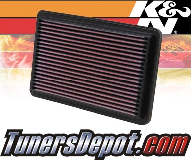 K&N® Drop in Air Filter Replacement - 03-03 Mazda Protege 1.6L 4cyl