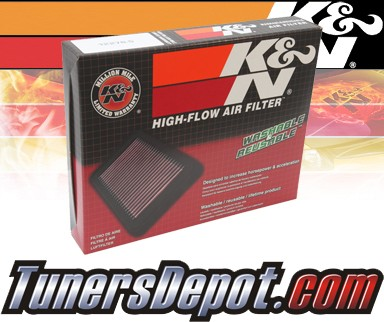K&N® Drop in Air Filter Replacement - 03-05 Honda Civic 1.3L 4cyl