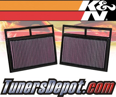 K&N® Drop in Air Filter Replacement - 03-06 Mercedes S600 W220 5.5L V12