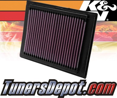 K&N® Drop in Air Filter Replacement - 03-07 Mazda 2 1.4L 4cyl