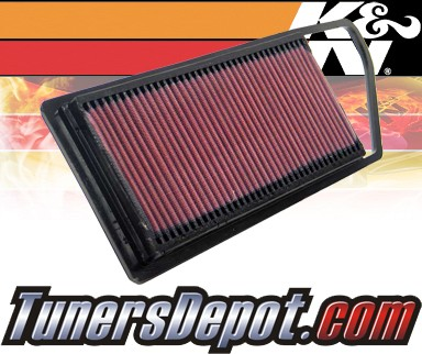 K&N® Drop in Air Filter Replacement - 03-07 Mazda 2 1.4L 4cyl Diesel