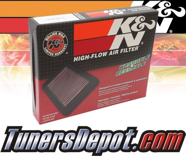 K&N® Drop in Air Filter Replacement - 03-07 Mazda 2 1.6L 4cyl