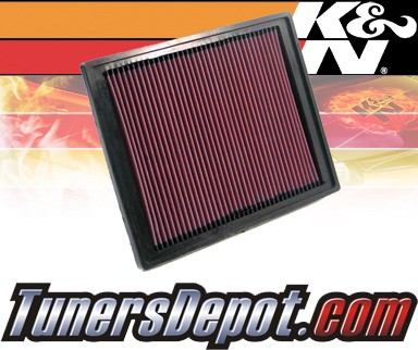 K&N® Drop in Air Filter Replacement - 03-08 Saab 9-3 Turbo 1.8L 4cyl