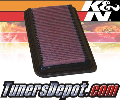 K&N® Drop in Air Filter Replacement - 03-08 Toyota Corolla 1.8L 4cyl