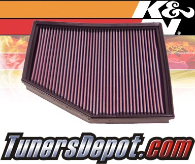 K&N® Drop in Air Filter Replacement - 04-05 BMW 545i E60 4.4L V8