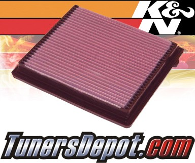 K&N® Drop in Air Filter Replacement - 04-08 Chrysler Voyager III 2.8L 4cyl Diesel