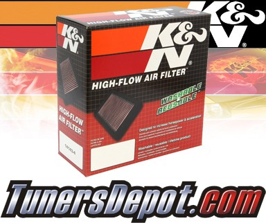 K&N® Drop in Air Filter Replacement - 04-08 Mitsubishi Lancer 1.3L 4cyl
