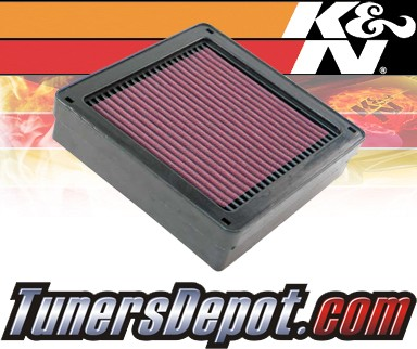 K&N® Drop in Air Filter Replacement - 04-08 Mitsubishi Lancer 1.6L 4cyl