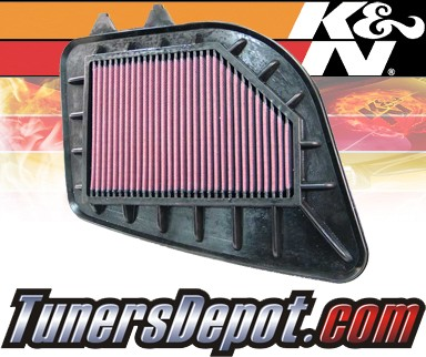 K&N® Drop in Air Filter Replacement - 04-09 Cadillac SRX 3.6L V6